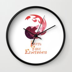 Burn your Enemies Wall Clock