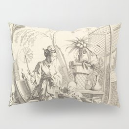 Grisaille Chinoiserie Pillow Sham