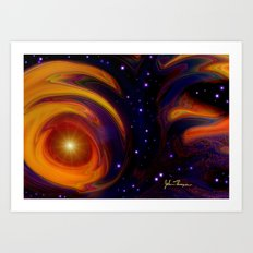 The Universe sees all Art Print