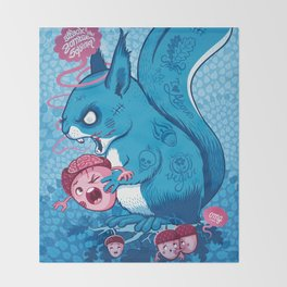 Zombie Squirrel Throw Blanket