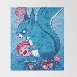 Zombie Squirrel Throw Blanket