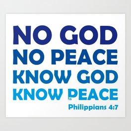 No God No Peace Kunstdrucke
