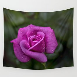 Wet Rose Wall Tapestry
