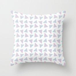 Pink Cyan Pattern Throw Pillow