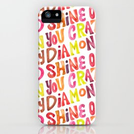 Shine On You Crazy Diamond – Rainbow Palette iPhone Case