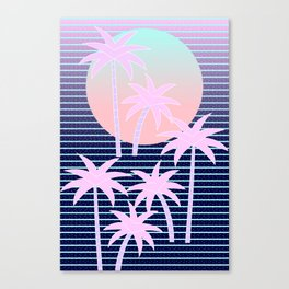 Hello Miami Moonlight Canvas Print