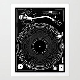 DJ TURNTABLE - Technics Art Print