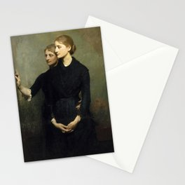 Abbott H. Thayer - The Sisters, 1884 Stationery Cards