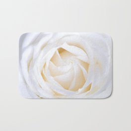 White rose flower Bath Mat