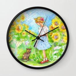 A girl with a kitten vol. 7 Wall Clock