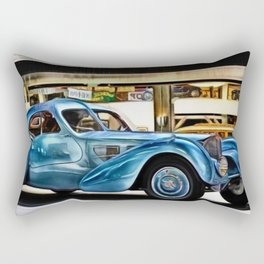 Vintage 1938 French Model Type 57 Atlantic Sports Coupe Painting Rectangular Pillow