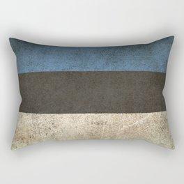 Old and Worn Distressed Vintage Flag of Estonia Rectangular Pillow