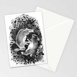 rabbits at rest Stationery Cards