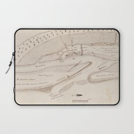 Vintage Map of St Augustine FL (1819) Laptop Sleeve