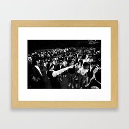 Kinkakuji School Kids Framed Art Print