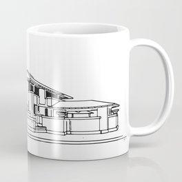 Darwin Martin House in Black & White Coffee Mug