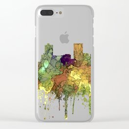 Anchorage, Alaska Skyline - SG - Safari Buff Clear iPhone Case