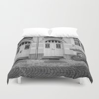 house Duvet Covers featuring House by Laura Arroyo