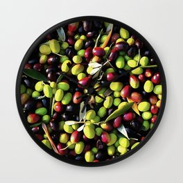 Organic Olives Wall Clock