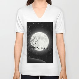 Moon Bath, Birds On A Wire Unisex V-Neck