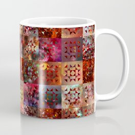 Warm Colors Galaxy Quilt Pattern Coffee Mug