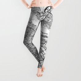 Amsterdam Map White Leggings