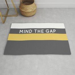 Mind The Gap London Underground Rug