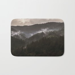 Foggy morning in Bosnia Bath Mat