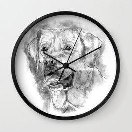 Labrador Retriever Painting Wall Clock