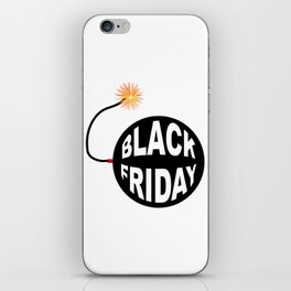 Black Friday Bomb And Lit Fuse iPhone Skin