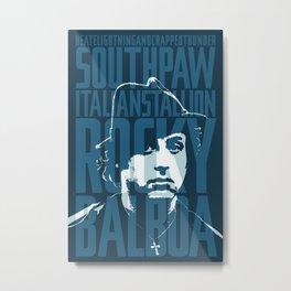 Rocky Balboa Minimal Vector Film Poster Metal Print
