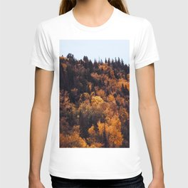 Beautiful Autumn Forest Orange & Brown Leaves T-shirt