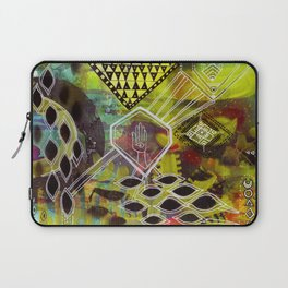 """Visuals for Airports #1"" Original Painting by Lynzee Lynx Laptop Sleeve"