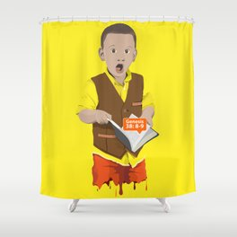 Thought Provoking Kid Shower Curtain