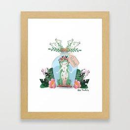 Miss Printemps Framed Art Print