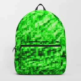 Green Pixel Wind Backpack