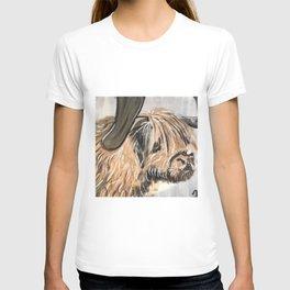 Highland Cow by Noelle's Art Loft T-shirt