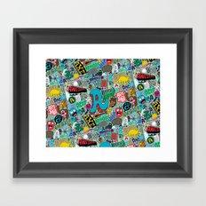 A Pattern Framed Art Print