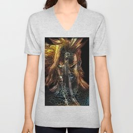 two faces of a hero Unisex V-Neck