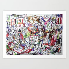Inside the Belly of the Beast Art Print