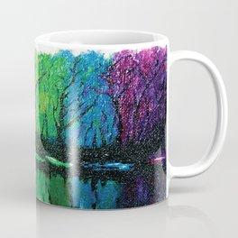 Rainbow Abstract Painting. Woods. Red Yellow Orange Green Blue Purple Coffee Mug