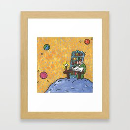 The Geographer From Little Prince Framed Art Print