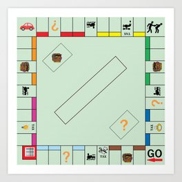Monopoly Print Currency Game Art Print