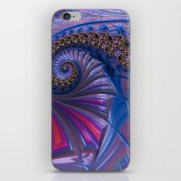 Curved Blue Fractal iPhone Skin