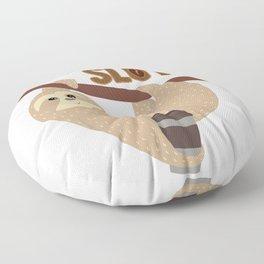Cute I'm A Caffeinated Sloth Coffee Lover design Floor Pillow