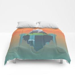 Floating Island (Mountain) Comforters