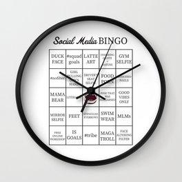 Social Media Buzzword Bingo Card Wall Clock