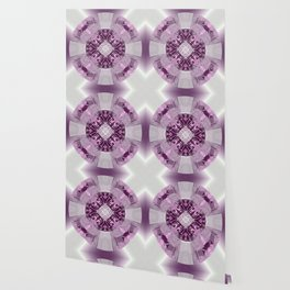 Microchip Mandala in Pink Wallpaper