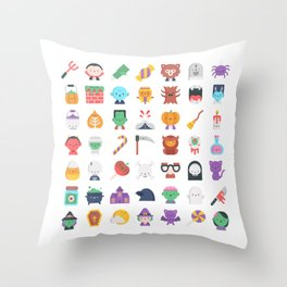 CUTE HALLOWEEN COSTUME FALL PATTERN Throw Pillow