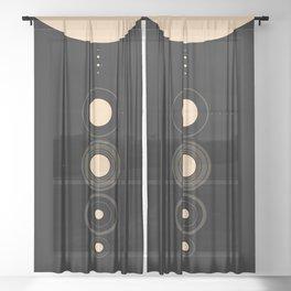 Solar System Sheer Curtain